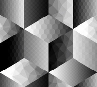 Geometric pattern fron cubes with different surfaces