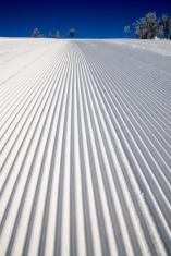 Ski piste well prepared