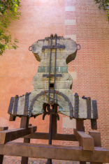 original carrier of the old cathedral bell of Malaga, Spain