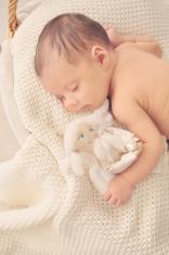 Newborn Baby Girl Sleeping - Cute, Happy and Smiling
