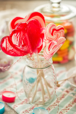 Heart Candy And Lollipops