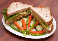 Veggie Sandwich Served