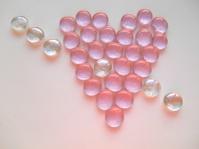 Pink heart of stones