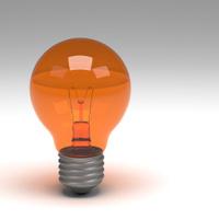 3d rendering of lightbulb isolated