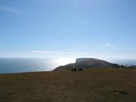 Chalk Cliffs in Bright Sunlight