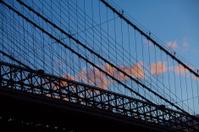 Brooklyn Bridge Silhouette on a Beautiful Summer Day
