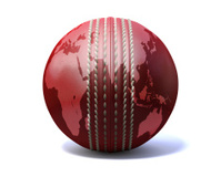 Cricket Ball World Map