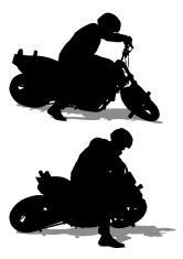 Moto sport people