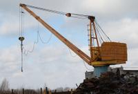 crane to move the scrap metal