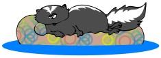 Lounging Skunk
