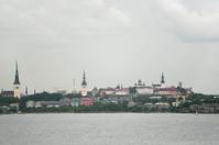 coastal view of tallin oldtown at estonia