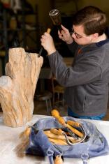 Sculptor at Work