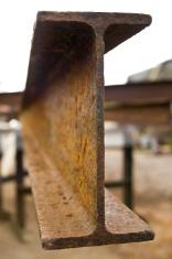 Cross-section/Head of a Rusty Iron Girder