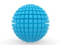 3d blue ball