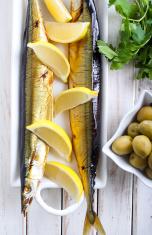 Smoked mackerel pike fish