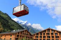 Cable car in Chamonix L'Aiguille Du Midi
