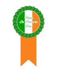 St Patrick's day rosette