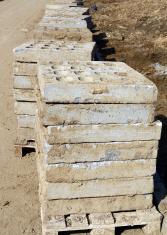 Dirty concrete blocks