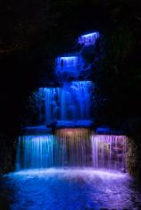 Waterfall Night Lights