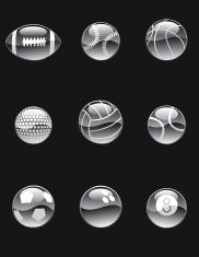 Chrome Sports Balls