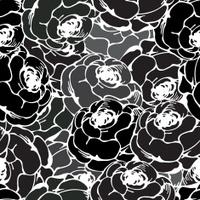 Vintage rose pattern black