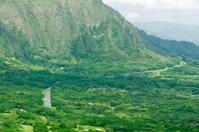View from Nuuanu Pali overlook on Oahu HI