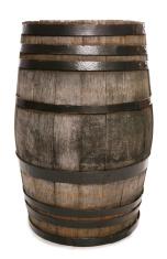 vintage oak wine barrel