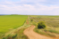 Abstract image of country road with motion blur