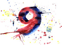 Watercolor paint - digit
