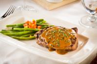 Steak with gravy sauce