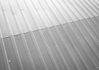 perspective metal sheet ,black and white