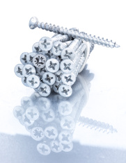 the pile of glittering screws