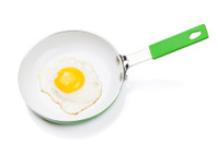 Fried egg in a frying pan