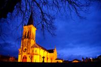 Old church at night
