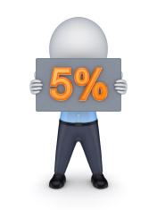 5 percents.