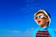 happy little boy in summer vacation