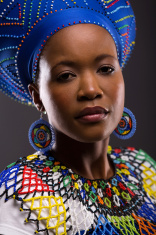 young african zulu lady looking at the camera