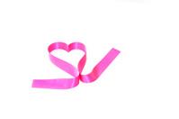 Pink ribbon Valentines heart