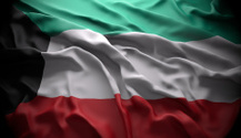 Kuwait national official state flag