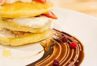 Strawberry cream pancake