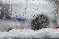 city snowfall motion cars