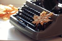 old typewriter concept autumn