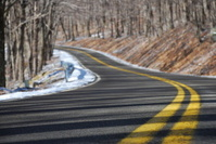 Curvy Mountain Road in Winter