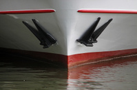 Nose of a ship with anchors