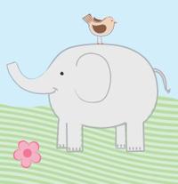 Elephant & Bird