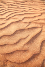 Rippled sand.