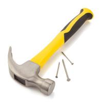 hammer tool on white background