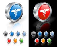 medical caduceus 3D royalty free vector art