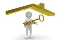 Man with Gold Home Key