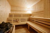 Large Finland-style sauna interior